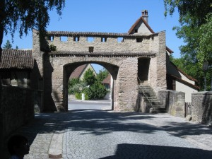 City gate in Iphofen, Germany