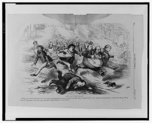 Hue and Cry in New York. Harper's Weekly 1871; National Archives. No known rights.