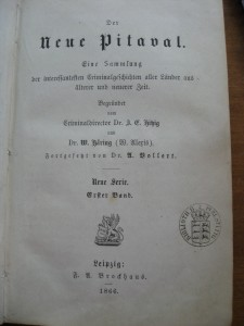 "The German ""New Pitaval,"" an offshoot of the original French Pitaval collection"