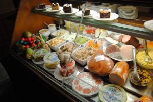 """Hungry? Here's part of a buffet at a """"Buschenschank"""" (bush inn) in Austria."""