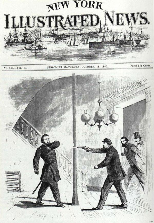 Jefferson C. Davis shooting Bull Nelson