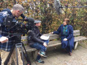 UKTV interview for Royal Murder Mysteries.