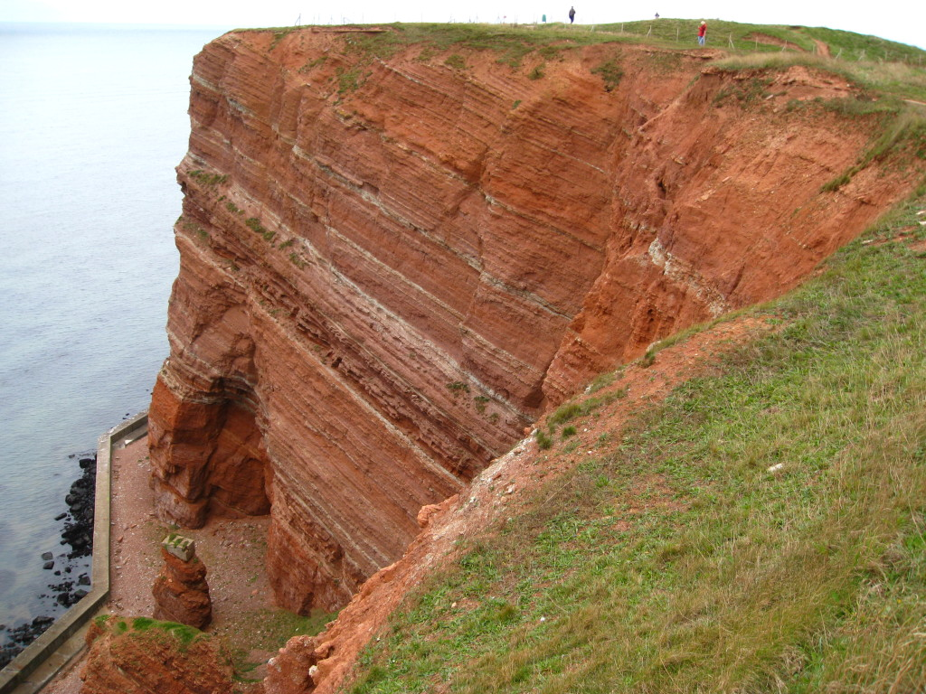 The cliffs of Heligoland.