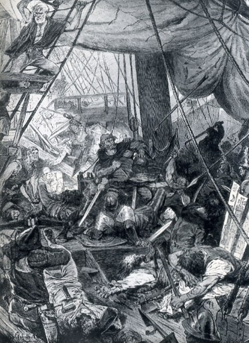 Störtebeker's defeat at Heligoland.