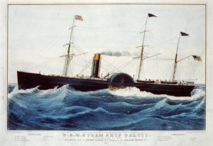 The Civil War general was travelling on a steamer like this one.