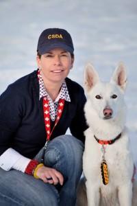 Cadaver Dog Team Birgit Hilsbos & Blaze.
