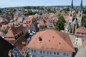 A view of Bad Wimpfen from the top of the Blue Tower.