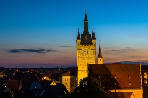 Bad Wimpfen's Blue Tower, where the tower keeper lives.
