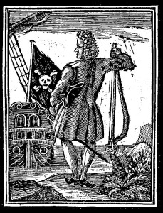 1725 woodcut of the Jolly Roger