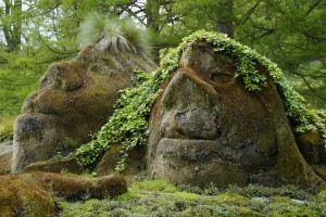 The trolls were turned to stone in The Hobbit.