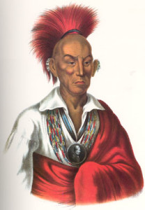 """Chief Black Hawk3"" by Charles Bird King - McKenney, Thomas Loraine and James Hall. History of the Indian Tribes of North America, with Biographical Sketches and Anecdotes, of the Principal Chiefs. Philadelphia: J. T. Bowen, 1848-1850. Licensed under Public Domain via Wikimedia Commons"