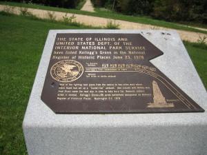 A Black Hawk War monument at Kellogg's Grove.