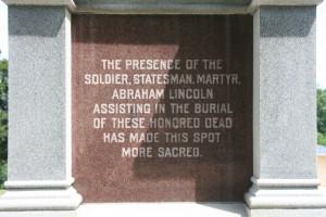 Stillman's run monument from the Black Hawk War.