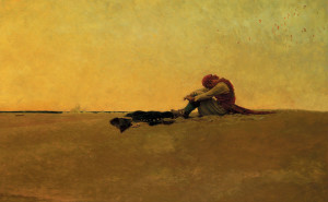 Howard Pyle's painting shows a marooning.