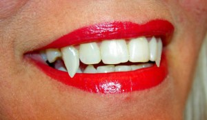 Fangs -- the most famous hallmark of the vampire.