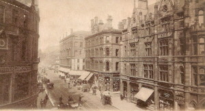 19th century Deansgate in central Manchester.
