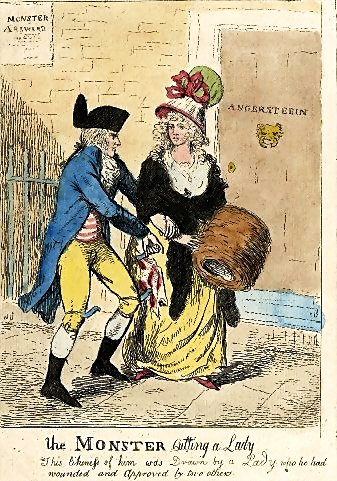 The London Monster cutting a lady.