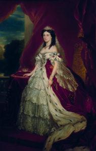Coronation portrait of Augusta of of Saxe-Weimar-Eisenach.