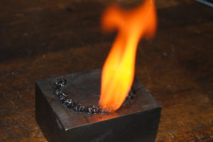 Modern, smokeless powder with a cleaner flame.