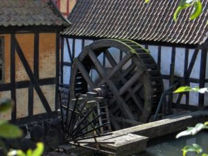 Mill at dawn.