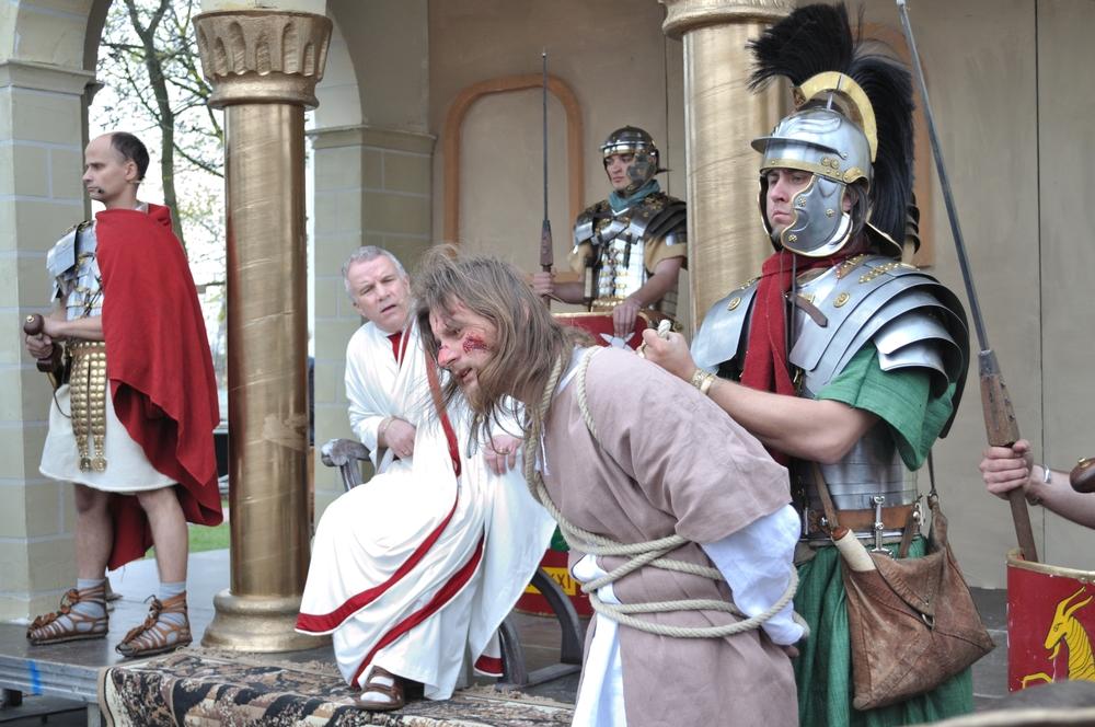 Jesus Christ before Pontius Pilate.