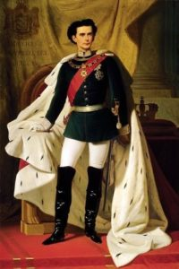 King Ludwig II's coronation portrait