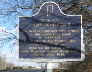 Camp Whitcomb, where one of the female soldiers in the Mexican-American War was discovered.