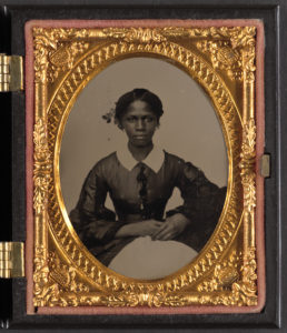 An unidentified African-American woman in the Civil War era. Both black and white women were victims of rape in the Civil War.