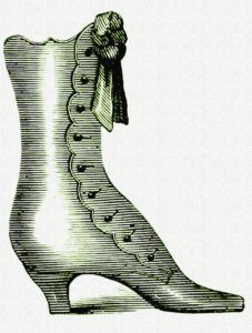The notorious Mrs. Clem wore boots during the murder and left behind a print.