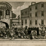 Queen Caroline's funeral procession became the origin of the police lineup