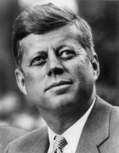 John F. Kennedy, whose assassination Dorothy Kilgallen was investigating.