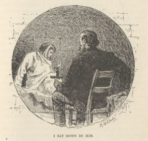 "Scene from ""A Dying Man's Confession"" by Mark Twain"