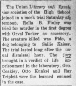 """""""Fido"""" appears as a generic name in a mock trial in 1906."""