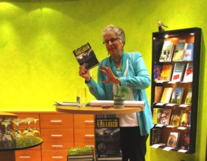 Ann Marie Ackermann presents Death of an Assassin at the Bietigheimer Bücherstube.