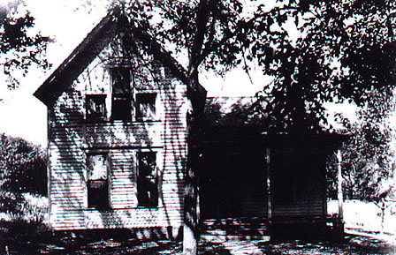 The original Moore house, site of the Villisca ax murders. Courtesy of the Villisca Ax Murder House Website