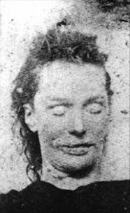 Mortuary photo of Elizabeth Stride.
