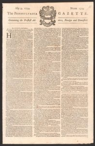 Pennsylvania Gazette, Benjamin Franklin's newspaper
