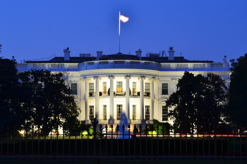 The White House at night - Washington DC, United States. There are plenty of White House ghost stories.