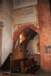 The ornate beauty of Lauffen's Regiswindis Church. The church profited from its status as a pilgrimage destination.