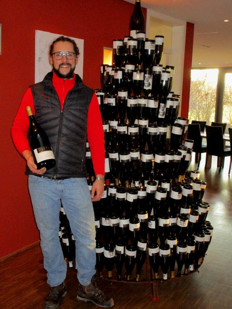 Christian Dautel in his world-renowned winery, Weingut Dautel.